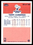 1986 Fleer #20  Terry Cummings  Back Thumbnail