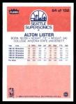 1986 Fleer #64  Alton Lister  Back Thumbnail
