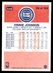 1986 Fleer #56  Vinnie Johnson  Back Thumbnail
