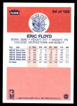 1986 Fleer #34  Sleepy Floyd  Back Thumbnail