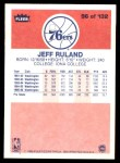 1986 Fleer #96  Jeff Ruland  Back Thumbnail