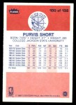 1986 Fleer #100  Purvis Short  Back Thumbnail