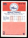 1986 Fleer #112  Sedale Threatt  Back Thumbnail
