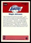 1986 Fleer Sticker #7  Magic Johnson  Back Thumbnail