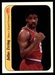 1986 Fleer Sticker #5  Julius Erving  Front Thumbnail