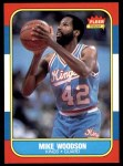 1986 Fleer #129  Mike Woodson  Front Thumbnail