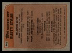 1983 Topps #741   -  Rusty Staub Super Veteran Back Thumbnail