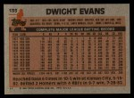 1983 Topps #135  Dwight Evans  Back Thumbnail