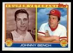 1983 Topps #61   -  Johnny Bench Super Veteran Front Thumbnail