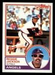 1983 Topps #500  Reggie Jackson  Front Thumbnail