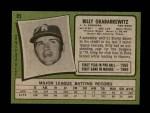 1971 Topps #85 YEL Billy Grabarkewitz  Back Thumbnail