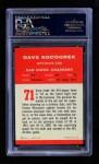 1963 Fleer #71  Dave Kocourek  Back Thumbnail