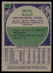 1975 Topps #19  Neal Walk  Back Thumbnail