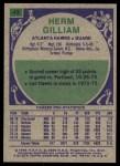 1975 Topps #43  Herm Gilliam  Back Thumbnail