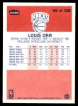 1986 Fleer #83  Louis Orr  Back Thumbnail