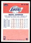 1986 Fleer #53  Magic Johnson  Back Thumbnail