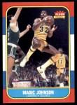 1986 Fleer #53  Magic Johnson  Front Thumbnail