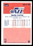 1986 Fleer #28  Mark Eaton  Back Thumbnail