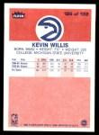1986 Fleer #126  Kevin Willis  Back Thumbnail