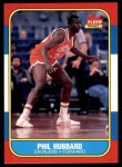 1986 Fleer #48  Phil Hubbard  Front Thumbnail