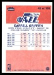 1986 Fleer #42  Darrell Griffith  Back Thumbnail