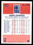 1986 Fleer #29  James Edwards  Back Thumbnail