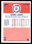 1986 Fleer #4  Danny Ainge  Back Thumbnail
