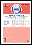 1986 Fleer #97  Ralph Sampson  Back Thumbnail