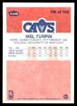 1986 Fleer #116  Melvin Turpin  Back Thumbnail