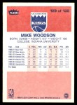 1986 Fleer #129  Mike Woodson  Back Thumbnail