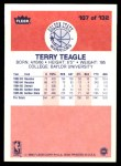 1986 Fleer #107  Terry Teagle  Back Thumbnail