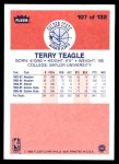1986 Fleer #107  Terry Teagle  Back Thumbnail