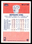 1986 Fleer #60  Bernard King  Back Thumbnail