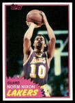 1981 Topps #22  Norm Nixon  Front Thumbnail
