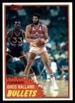 1981 Topps #94 E Greg Ballard  Front Thumbnail