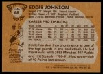 1981 Topps #68 E Eddie Johnson  Back Thumbnail