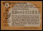 1981 Topps #98 E Rick Mahorn  Back Thumbnail