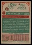 1973 Topps #252  Larry Miller  Back Thumbnail
