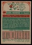 1973 Topps #142  Earl Monroe  Back Thumbnail