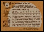 1981 Topps #85 E DeWayne Scales  Back Thumbnail