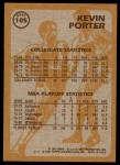 1981 Topps #105 E  -  Kevin Porter Super Action Back Thumbnail