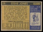 1971 Topps #175  Steve Jones  Back Thumbnail