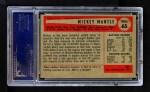 1954 Bowman #65  Mickey Mantle  Back Thumbnail