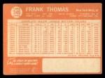 1964 Topps #345  Frank Thomas  Back Thumbnail
