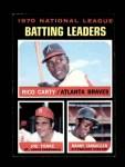 1971 Topps #62   -  Rico Carty / Manny Sanguillen / Joe Torre NL Batting Leaders   Front Thumbnail