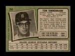1971 Topps #296  Tom Timmermann  Back Thumbnail