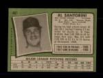 1971 Topps #467  Al Santorini  Back Thumbnail