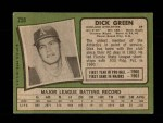 1971 Topps #258  Dick Green  Back Thumbnail