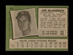 1971 Topps #428  Jim McAndrew  Back Thumbnail