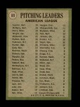 1971 Topps #69   -  Mike Cuellar / Dave McNally / Jim Perry AL Pitching Leaders   Back Thumbnail